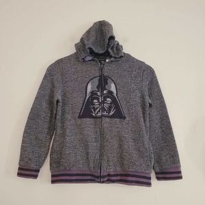 Star Wars Boys hooded sweater tops size 10/12 Gray